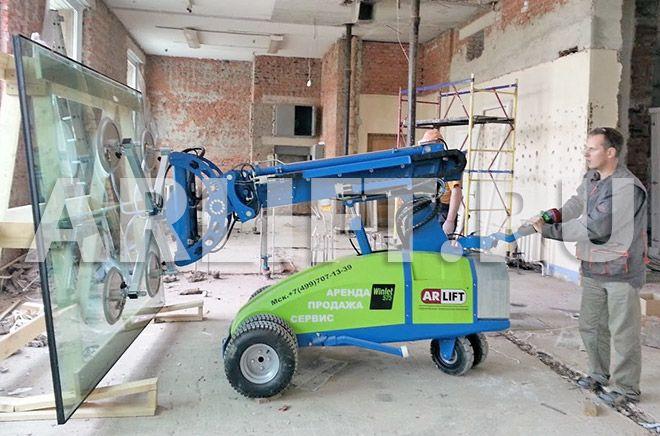 реконструкция здания стекло-роботом Winlet