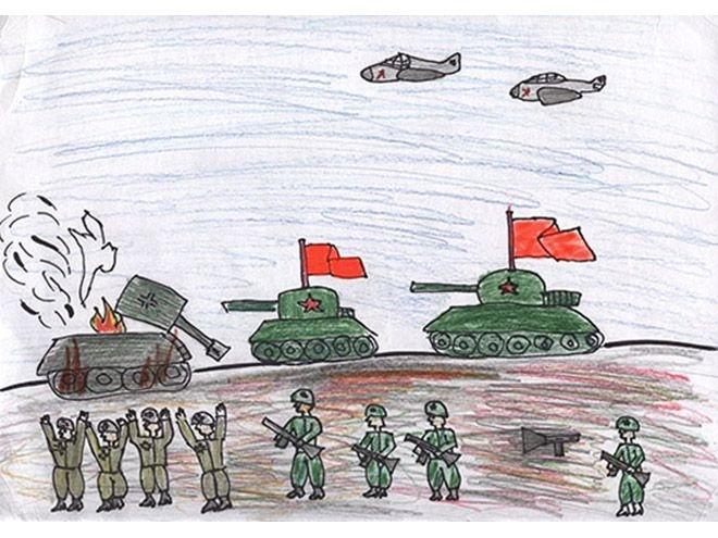 рисунок о войне для 1-4 классов